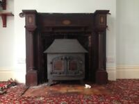 1920 traditional man made fire surround