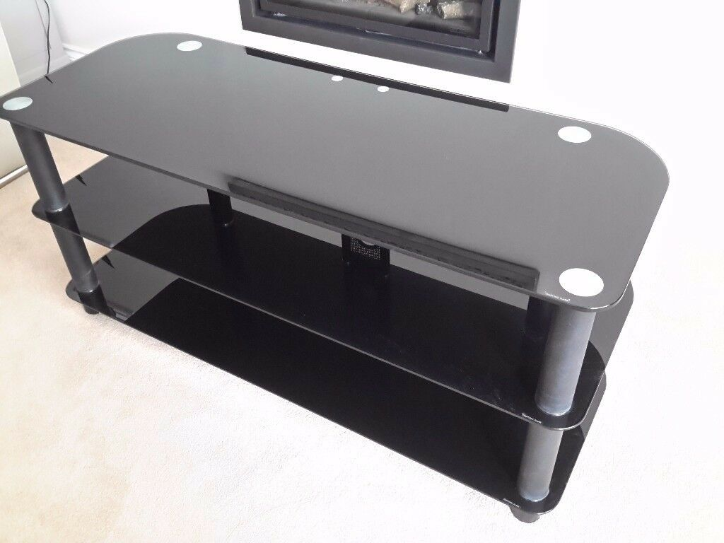 TV Black Glass Table
