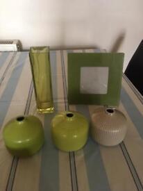 Ornaments -shades of green