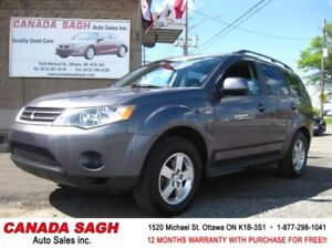 2009 Mitsubishi Outlander 7SEATERS/4WD, 12M.WRTY+SAFETY $7390