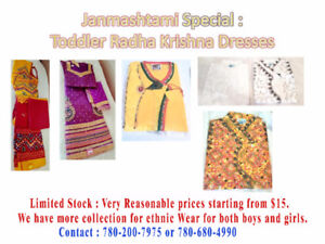 Janamastmi clothing and East Indian Ethnic dresses for toddlers