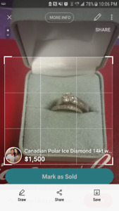 Diamond Ring .57 KT