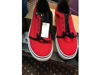 Vans Trainers - UK3 - Red - Brand New