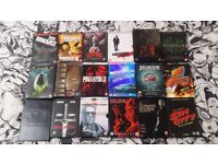 Collection of DVDs for sale, many rare and limited editions