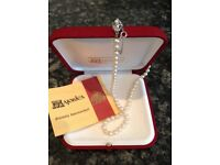 Majorica pearl necklace with guarantee of authenticity
