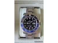 Rolex Gmt master 2 BATMAN black & blue luxury automatic watch brand new in Swiss box STUNNING