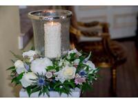 Wedding glass Vases x 13