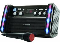 Easy Karaoke EK212 BLACK CD Graphics Karaoke Machine With LED Disco Lights Mic