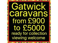 Caravans from £900 to £5000