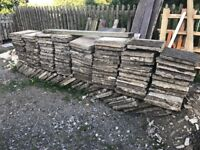 135 Natural Stone Pavers, can be used to make stone bricks see picture