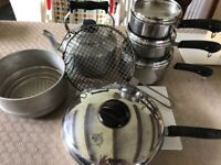 Aga pots, pans & kettle for sale