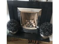 Marble Gas fire place - immaculate