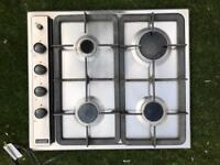 Stainless steel hob, working, clean and in very good condition