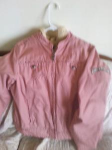 Womens harley davidson jean jacket /vest
