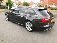 "2013 13 Audi A6 Avant 2.0 TDI S Line Diesel SatNav Heated Leather 20"" Black Edition Alloys"