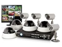 CCTV installation for 350 4 cameras DVR and installation TV engineer