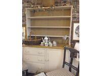 LOVELY Continental pine painted and stripped top Cupboard. SOLD