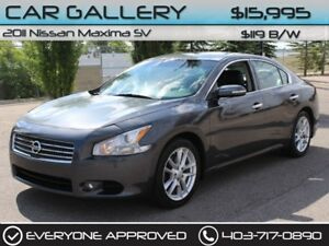 2011 Nissan Maxima SV w/Leather, Custom Rims $119B/W QUICK  EASY