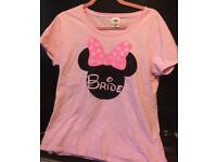 Wedding womens disney bride tshirt