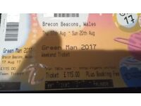 Green Man Festival Teen ticket (Age 13-17 only) Face value + booking fee + postage (if any)