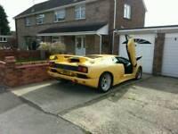 Lamborghini diablo number plate