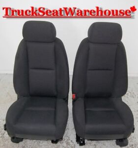 Chev Truck 2012 Silverado Power Black Cloth Front Seats GMC Sier