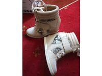 ladies heeled trainers