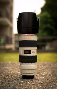 --==Canon 70-200mm f/2.8 IS with hood and tripod collar==-- - $1
