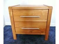 Bensons For Beds Solid Beech Wood Frame 2 Drawer Bedside Table Chest of Drawers Bedside Unit