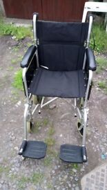 "Drive Haymarc Healthcare Enigma Aluminium Transit Folding Wheelchair 18"" seat VG CONDITION £90 ONO"