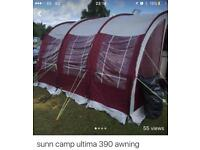 Sunncamp Ultima 390 awning. SOLD