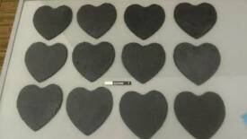 12 x Large Slate Hearts, Ideal for a Wedding £25 o.n.o.