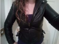 Ladies leather jacket (size ten roughly)