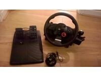 Logitech Driving Force GT Racing Steering Wheel + Pedals for PS3
