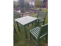 solid wood heavy duty garden furniture sets