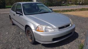 1996 Honda Civic gris Coupé (2 portes)