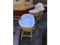 Moses baskets for both include stands £10