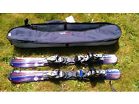 Snowblade skis by Salomon, 100cm. High performance blades with carrying bag