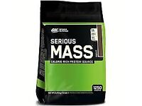Optimum nutrition serious mass gainer 5.4kg Available All Flavours £42 For 1 Or £120 For 3