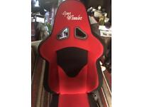 Open wheeler gaming chair with Xbox one 500gb and games