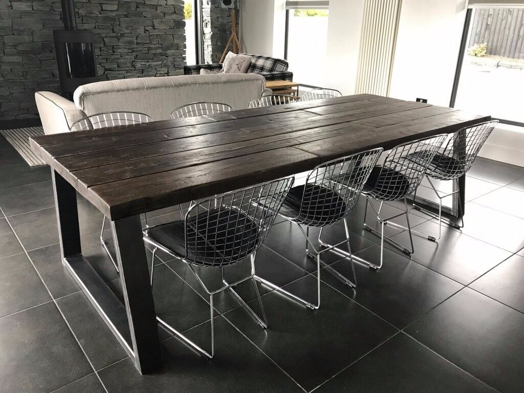 Rustic Industrial Dining Table Bench