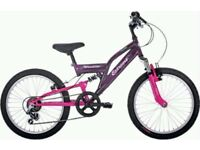 Extreme by Raleigh Mission 20 Inch Full Suspension Mountain Bike - pink