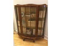 1930s/1940s Glass Display Cabinet
