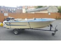 Classic Broom Speed Boat 20 hp