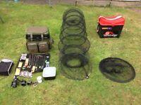 Fishing gear seat boxes x2