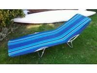Canvas sun bed lounger
