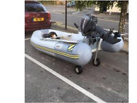 Zodiac act-v dingy with 15hp mariner outboard