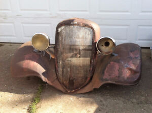 1933 1934 Chevrolet front fenders headlamps and grill shell