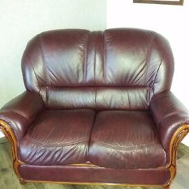 2 seater leather sofa, perfect for family room etc.