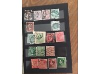 100 + used pre-decimal GB stamps – Victoria to Elizabeth II. In stock book.